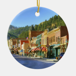 SD, Deadwood, Historic Gold Mining town Christmas Ornament