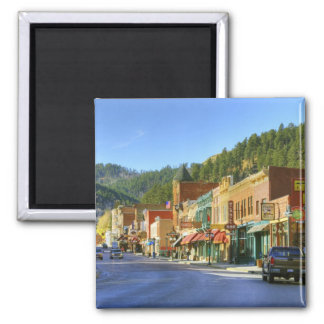 SD, Deadwood, Historic Gold Mining town Square Magnet