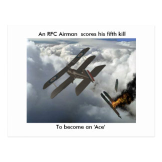 Se5a Kills DFW, An RFC Airman  scores his fifth... Postcard