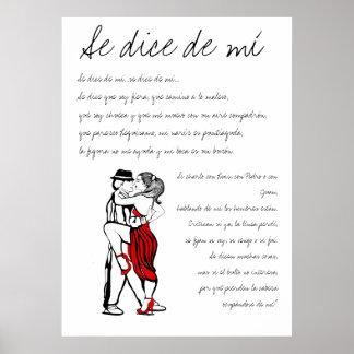 Se dice de mi Tango Lyrics Poster
