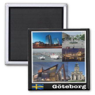 SE - Sweden - Gothenburg - Mosaic - Collage Magnet