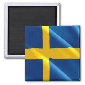 SE - Sweden - Waving Flag - Swedish Magnet