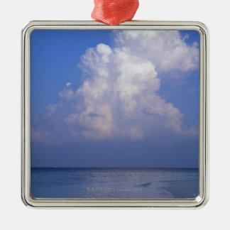 Sea 2 Silver-Colored square decoration