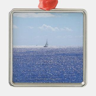 Sea 6 Silver-Colored square decoration