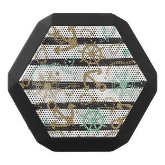 Sea Anchor Pattern Black Bluetooth Speaker