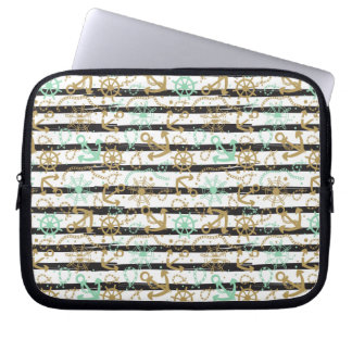 Sea Anchor Pattern Laptop Sleeve