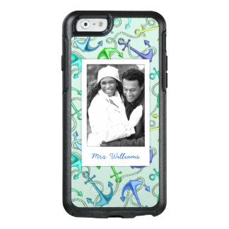 Sea Anchors And Rope Pattern   Your Photo & Name OtterBox iPhone 6/6s Case