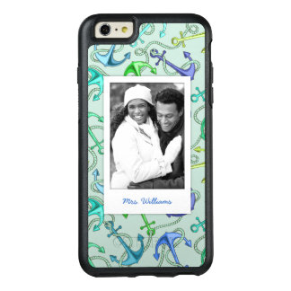 Sea Anchors And Rope Pattern | Your Photo & Name OtterBox iPhone 6/6s Plus Case