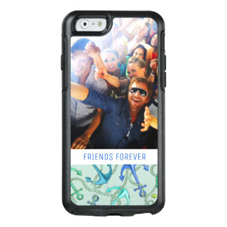 Sea Anchors And Rope Pattern | Your Photo & Text OtterBox iPhone 6/6s Case