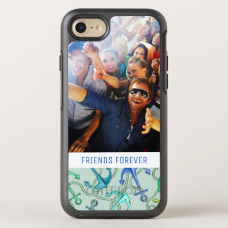 Sea Anchors And Rope Pattern | Your Photo & Text OtterBox Symmetry iPhone 8/7 Case