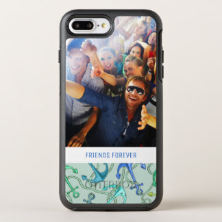 Sea Anchors And Rope Pattern | Your Photo & Text OtterBox Symmetry iPhone 8 Plus/7 Plus Case