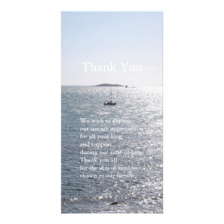 Sea and Boat 4- Sympathy Thank You Photo Cards