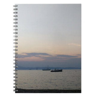 Sea and boats Photo Notebook