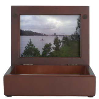 Sea and building keepsake box