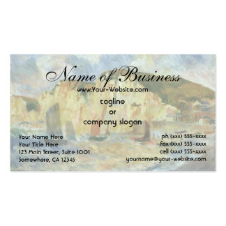 Sea and Cliffs by Pierre Auguste Renoir Pack Of Standard Business Cards