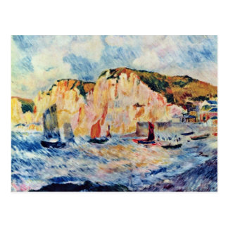 Sea And Cliffs By Pierre-Auguste Renoir Postcard