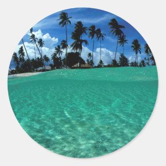Sea And Island, Indonesia Round Sticker