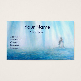 SEA AND MEDITATION - WOMAN AND HER HOME BUSINESS CARD