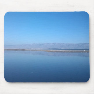 Sea and mountain views mouse mat