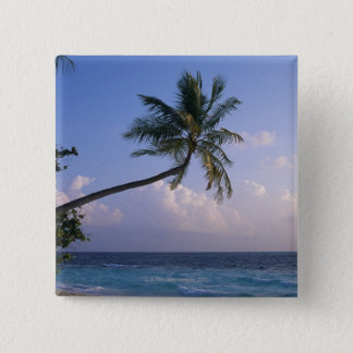 Sea and Palm Tree 15 Cm Square Badge