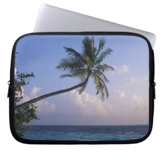 Sea and Palm Tree Laptop Computer Sleeves