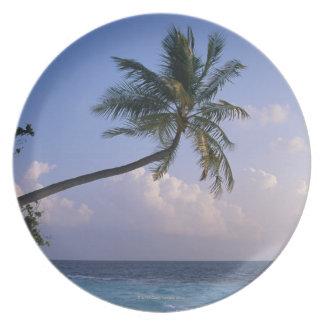 Sea and Palm Tree Plate