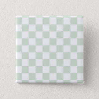 Sea Anemone Gingham Pattern 15 Cm Square Badge