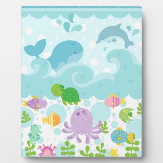 Sea Animal Art Easel Display Plaques