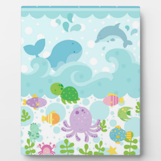 Sea Animal Art Easel Plaque