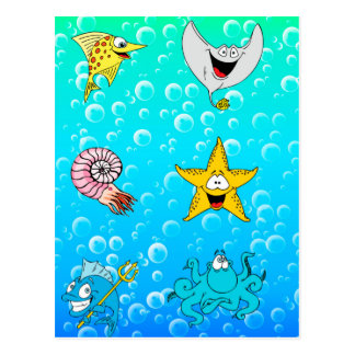 Sea Animals Postcard