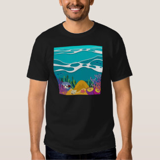 Sea animals under the ocean tee shirts