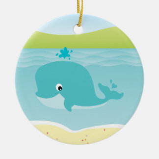 Sea animals, whale and starfish Kids Ornament