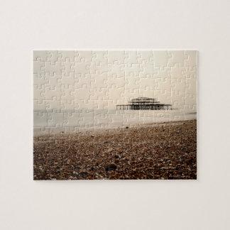 Sea at Brighton Beach Jigsaw Puzzle