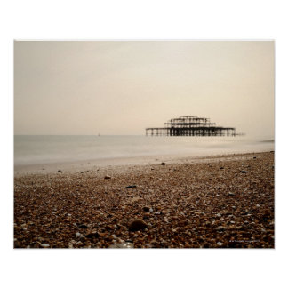 Sea at Brighton Beach Poster