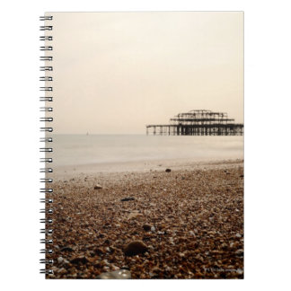 Sea at Brighton Beach Spiral Note Book