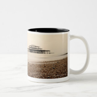 Sea at Brighton Beach Two-Tone Coffee Mug