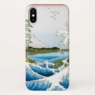 Sea at Satta in Suruga Province by Ando Hiroshige iPhone X Case