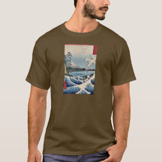 Sea at Satta in Suruga Province by Ando, Hiroshige T-Shirt