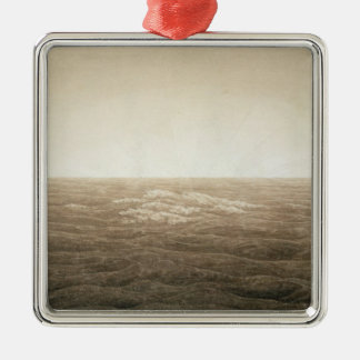 Sea at Sunrise, 1828 Silver-Colored Square Decoration