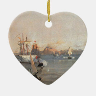 Sea Battle at the Bay of Patrae Ioannis Altamouras Christmas Ornament