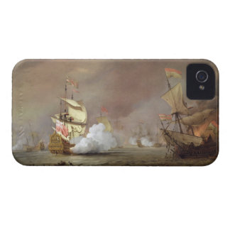 Sea Battle of the Anglo-Dutch Wars, c.1700 (oil on iPhone 4 Case-Mate Cases