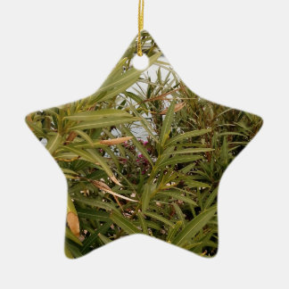Sea behind the plants christmas ornament