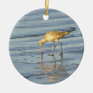 Sea Bird Double-Sided Ceramic Round Christmas Ornament