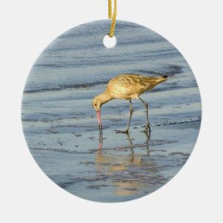 Sea Bird Round Ceramic Decoration