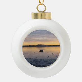 Sea Birds and Boat Ceramic Ball Decoration