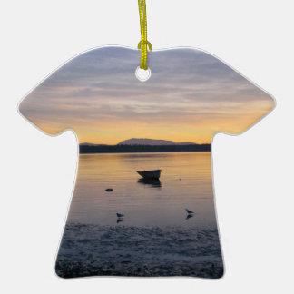Sea Birds and Boat Ornament