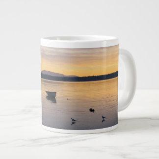 Sea Birds and Boat Jumbo Mug