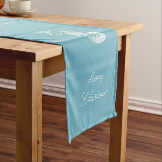 Sea Blue Beach House Christmas Long Table Runner