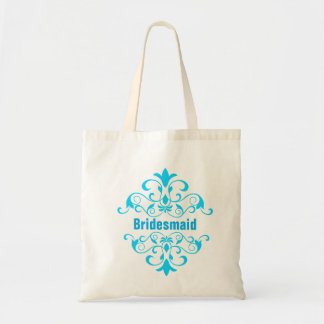 Sea Blue Bridesmaid Wedding Tote Bag