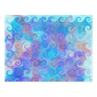 Sea Blue Curls Postcard